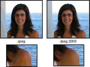 Différence entre jpeg et jpeg2000